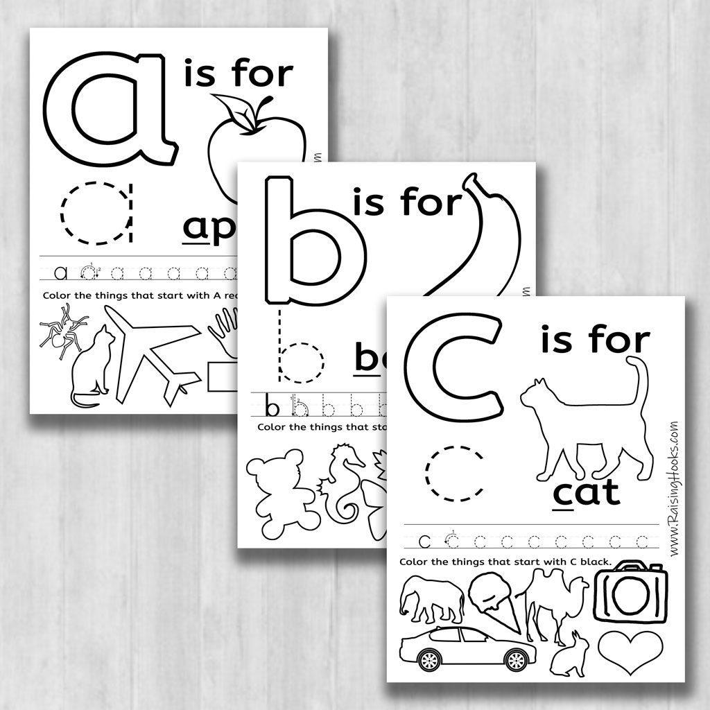 Fun Alphabet Learning Worksheets - Raising Hooks